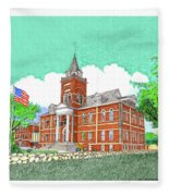 Luna County Court House  Deming  N M   Fleece Blanket