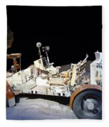 Lunar Rover Fleece Blanket