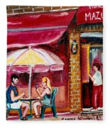 Lunch At The Mazurka Fleece Blanket