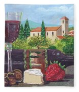 Lunch In Provence Fleece Blanket