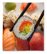 Lunch With  Sushi  Fleece Blanket