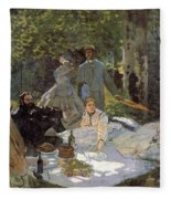 Luncheon On The Grass, Centre Panel Fleece Blanket