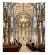Lunchtime Mass At Saint Paul Cathedral Pittsburgh Pa Fleece Blanket