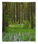 Lupine Carpet Fleece Blanket