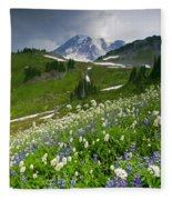 Lupine Storm Fleece Blanket