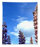 Lupins Fleece Blanket
