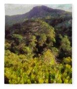 Lush Greenery While Trekking Fleece Blanket
