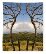 Lush Land Leafless Trees IIi Fleece Blanket