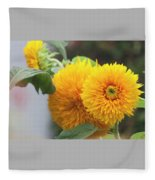 Lush Sunflowers Fleece Blanket