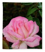 Lustrous Pink Rose Fleece Blanket
