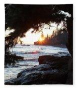 Lutsen Shore Four Fleece Blanket