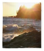 Lutsen Shore Fleece Blanket