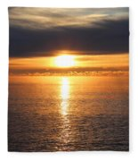 Lutsen Shore Sunrise Two Fleece Blanket