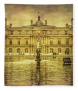 Luxembourg Palace Paris Fleece Blanket