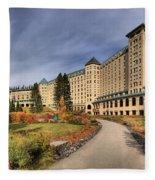 Luxurious Chateau Lake Louise Fleece Blanket
