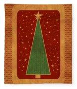 Luxurious Christmas Card Fleece Blanket