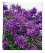 Luxurious Lilacs Fleece Blanket