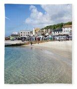 Lyme Regis Beaches - June 2015 Fleece Blanket