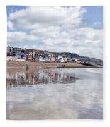 Lyme Regis Seafront Fleece Blanket