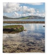 Lyme Regis Seascape 3 - October Fleece Blanket