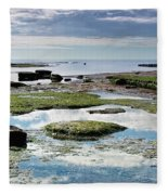 Lyme Regis Seascape 4 - October Fleece Blanket