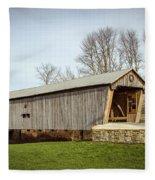 Lynchburg Covered Bridge Fleece Blanket