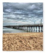 Lynnhaven Fishing Pier, Bay Side Fleece Blanket