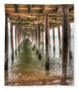 Lynnhaven Fishing Pier, Pillars To The Sea Fleece Blanket