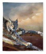 Lynx Spirit Fleece Blanket