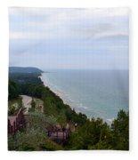 M22 Scenic Lake Michigan Overlook  Fleece Blanket
