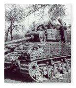M4 Sherman Fleece Blanket