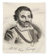 Maarten Harpertszoon Tromp 1598 - 1653 Fleece Blanket