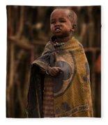 Maasai Boy Fleece Blanket