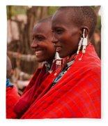 Maasai Women Fleece Blanket