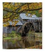 Mabry Mill In Fall 3 Fleece Blanket