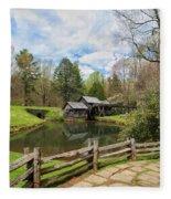 Mabry Mill In The Spring Fleece Blanket