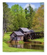 Mabry Mill In The Springtime On The Blue Ridge Parkway  Fleece Blanket