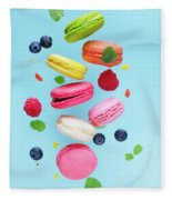 Falling In Love With Macaroons  Fleece Blanket