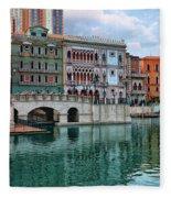 Macau China Attractions Fleece Blanket