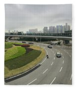 Macau Triptych 3 Fleece Blanket
