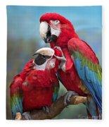Macaw Love Fleece Blanket