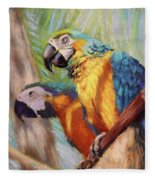 Macaws In The Sunshine Fleece Blanket