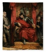 Macbeth Instructing The Murderers Employed To Kill Banquo Fleece Blanket