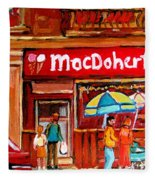 Macdohertys Icecream Parlor Fleece Blanket