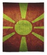 Macedonia Distressed Flag Dehner Fleece Blanket