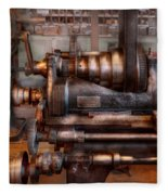 Machinist - Steampunk - 5 Speed Semi Automatic Fleece Blanket