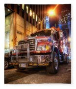 Mack Truck Nyc Fleece Blanket
