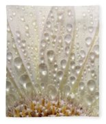 Macro Close Up Of A Daisy Flower Fleece Blanket
