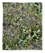 Macro Forest  Fleece Blanket