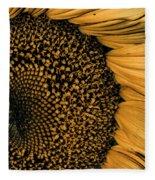 Macro Sunflower Fleece Blanket
